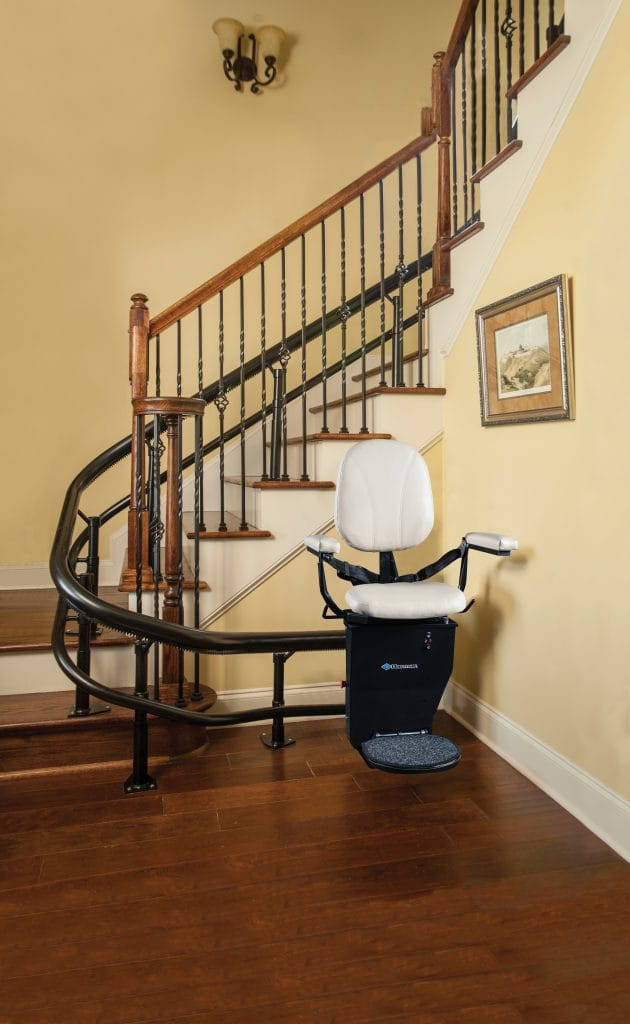 Curved Home Stair Lift