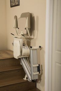 folded stair lift