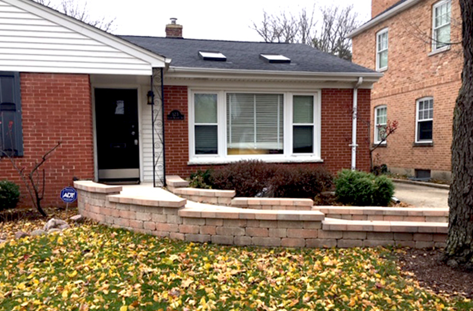 Outdoor ramp incorporated into landscape design